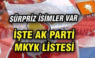 AK Parti 2017 MKYK üyeleri tam isim listesi