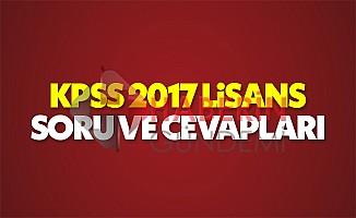 KPSS 2017 Lisans sınavı Genel Kültür ve Genel Yetenek soru ve cevapları ÖSYM