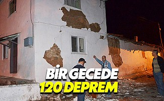 Manisa'da endişeli gece: Bir gecede 120 deprem