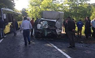 Sarıyer'de İETT kazası: 1 ölü 5 yaralı