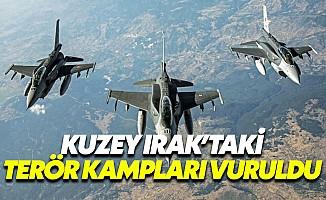 Türk jetleri Kuzey Irak'taki PKK kamplarını vurdu
