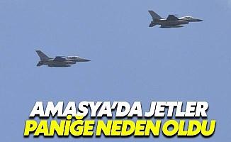 Amasya'da jetler alçaktan uçunca halk panik oldu