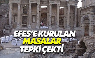 Efes Antik Kentinde düğün dernek ayıbı