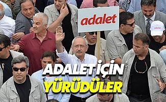Kılıçdaroğlu'nun Adalet Yürüyüşü ilk gününü tamamladı