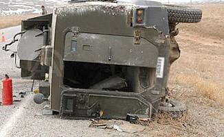 Kilis'te askeri araç devrildi: 1 şehit