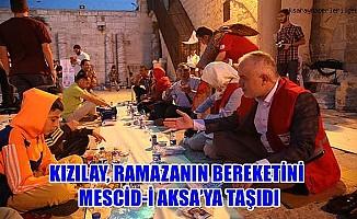 Kızılay, Ramazan bereketini Mescid-i Aksa'ya taşıdı.
