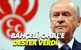 MHP lideri Bahçeli'den OHAL uzatılsın açıklaması