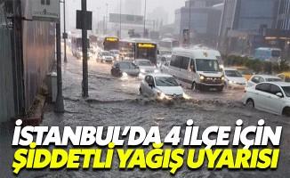 İBB ve AKOM'dan İstanbul'da 4 ilçe için sağanak yağış uyarısı