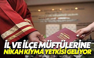 Müftülerde nikah memuru sayılacak