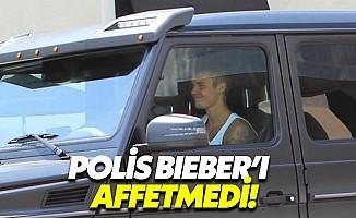 Polis Justin Bieber'ı affetmedi
