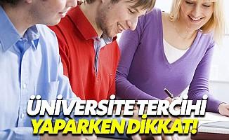 Üniversite tercihi yaparken başarı puanı çok önemli