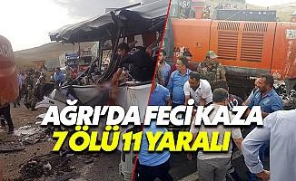 Ağrı'da vinç midibüsün üzerine devrildi, 7 ölü 11 yaralı