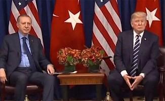 Cumhurbaşkanı Erdoğan ve ABD Başkanı Trump görüşmesi başladı.