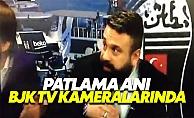 İstanbul patlama anı BJK TV kameralarında