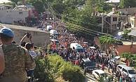 Şehidi 5 bin kişi son yolcuğuna uğurladı
